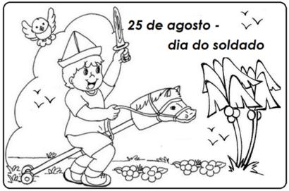 dia do soldado para colorir 410x271 - Mensagens do Dia do Soldado em imagens para compartilhar