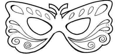 m%C3%A1scaras de carnaval para imprimir em forma de borboleta 410x189 - Máscaras de carnaval para imprimir e colorir para crianças