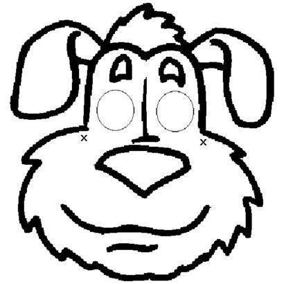 m%C3%A1scaras de carnaval para imprimir em forma de cachorro 410x410 - Máscaras de carnaval para imprimir e colorir para crianças