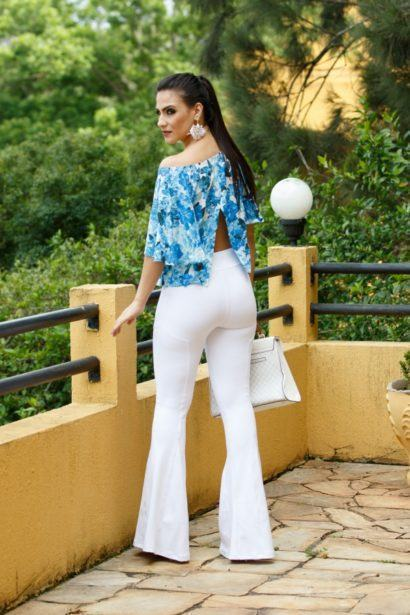 maxi cal%C3%A7as femininas flare branca 410x615 - Lindas Maxi calças femininas pra você ficar na moda
