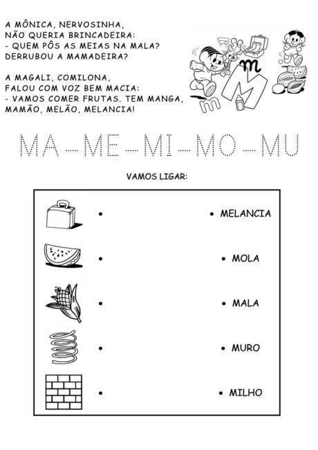 atividades ma me mi mo mu para imprimir 460x650 - Atividades com Ma Me Mi Mo Mu sílabas para alfabetização