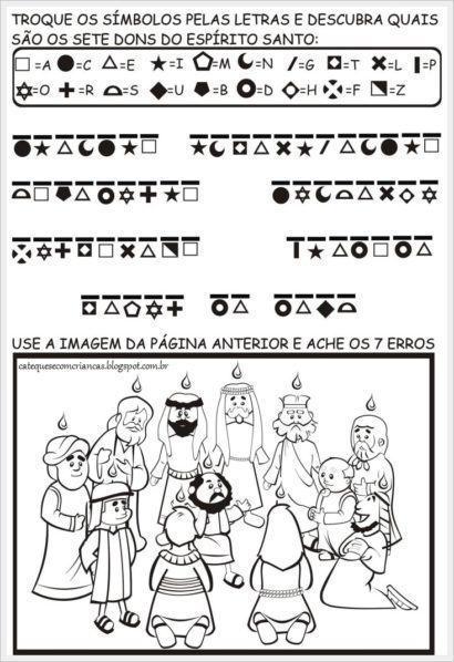 dons 410x598 - ATIVIDADES DE CATEQUESE SOBRE PENTECOSTES para aprender a bíblia