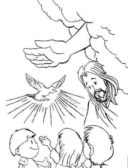 pentecostes para colorir 410x540 - ATIVIDADES DE CATEQUESE SOBRE PENTECOSTES para aprender a bíblia