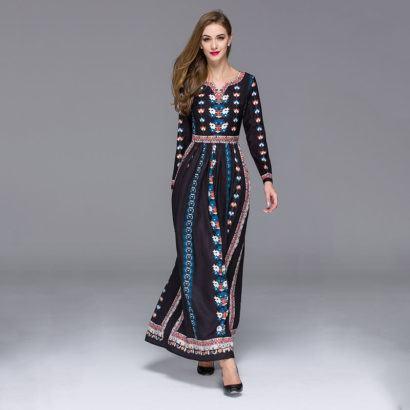 vestido mexicano longo 410x410 - VESTIDOS MEXICANOS CURTOS, LONGOS moda primavera verão