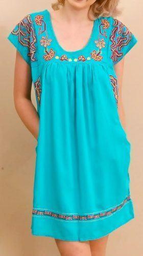 vestidos mexicanos curtos azul - VESTIDOS MEXICANOS CURTOS, LONGOS moda primavera verão