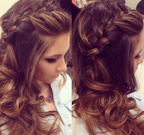 as trancas nos penteados para cabelos longos 470x439 - PENTEADOS PARA CABELOS LONGOS coques, semipresos, franjas, rabo de cavalo