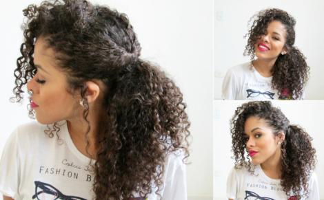 cabelos longos penteados para os cachos 470x291 - PENTEADOS PARA CABELOS LONGOS coques, semipresos, franjas, rabo de cavalo