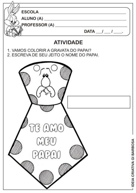 atividades para dia dos pais 11 470x665 - ATIVIDADES escolares PARA DIA DOS PAIS em desenhos bem legais