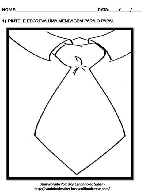 atividades para dia dos pais 2 470x627 - ATIVIDADES escolares PARA DIA DOS PAIS em desenhos bem legais