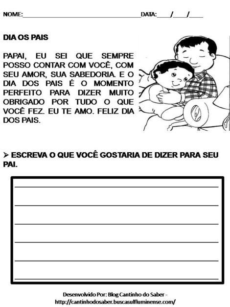 atividades para dia dos pais 4 470x627 - ATIVIDADES escolares PARA DIA DOS PAIS em desenhos bem legais