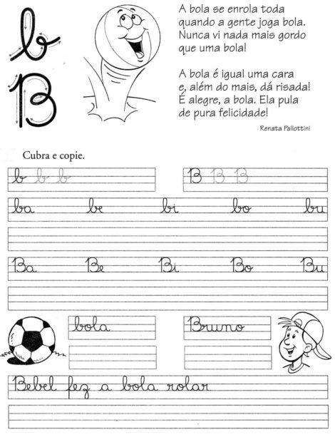 atividades de caligrafia para imprimir 7 470x613 - Atividades de CALIGRAFIA para Imprimir e melhorar a escrita