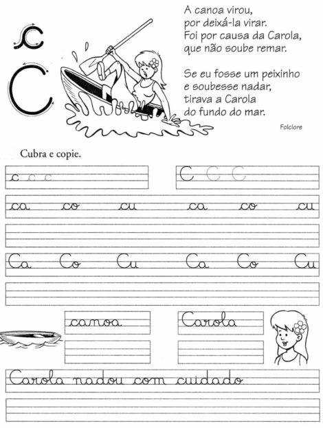 atividades de caligrafia para imprimir 8 470x623 - Atividades de CALIGRAFIA para Imprimir e melhorar a escrita