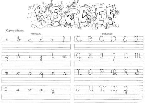 atividades de caligrafia para imprimir do alfabeto maiusculas e minusculas 470x329 - Atividades de CALIGRAFIA para Imprimir e melhorar a escrita