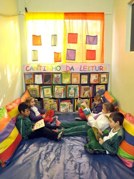 cantinho da leitura 10 - CANTINHO da leitura para crianças, na escola ou em casa, como fazer