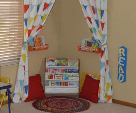 cantinho da leitura 2 470x392 - CANTINHO da leitura para crianças, na escola ou em casa, como fazer