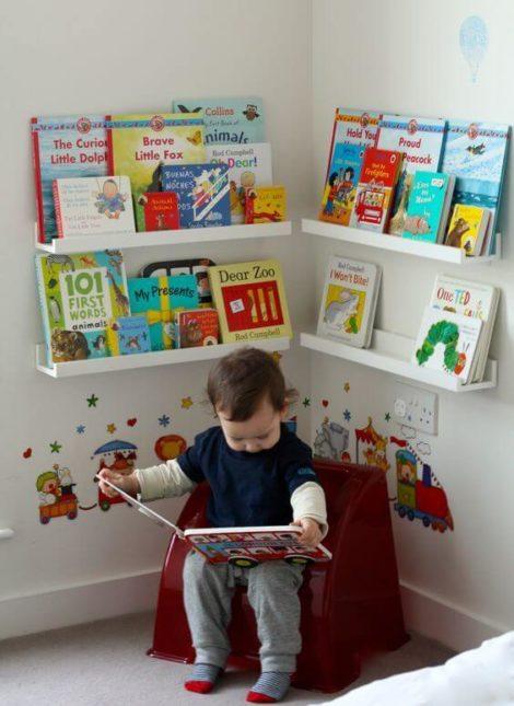 cantinho da leitura 3 470x645 - CANTINHO da leitura para crianças, na escola ou em casa, como fazer