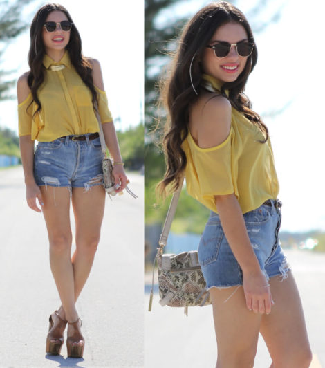 short jeans curto 4 470x532 - Como usar: SHORTS JEANS CURTO em diversos looks