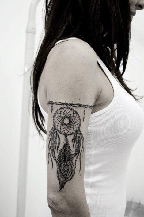 dream filter tattoo female 470x707 - Tatuagem Feminina no Braço, no Pulso, Ideias em Desenhos