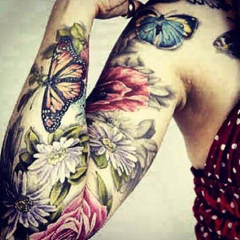 imagem 10 5 470x470 - Tatuagem Feminina no Braço, no Pulso, Ideias em Desenhos