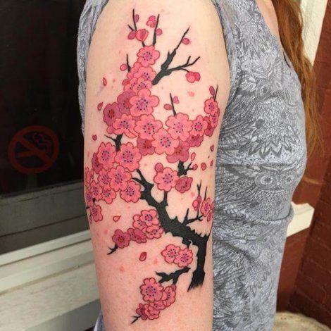 imagem 24 2 470x470 - Tatuagens de Flores com Galhos e partes do Corpo