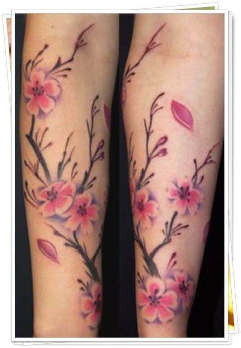 imagem 5 4 470x678 - Tatuagens de Flores com Galhos e partes do Corpo