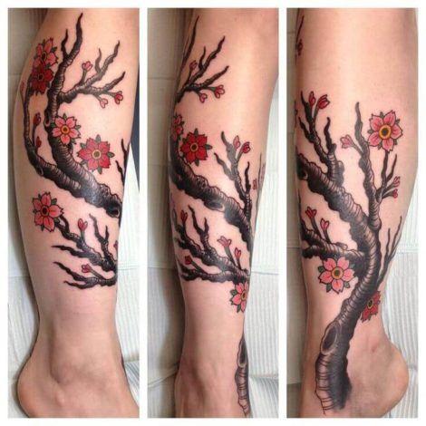 imagem 6 7 470x470 - Tatuagens de Flores com Galhos e partes do Corpo