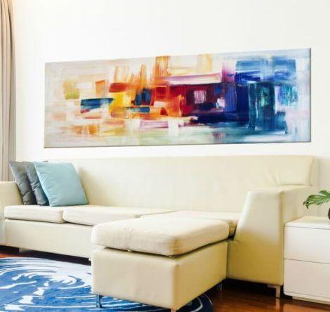 quadro abstrato para sala 1 470x444 - Quadros Abstratos para Sala Fotos e Dicas