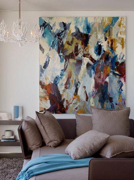 quadro abstrato para sala 2 470x627 - Quadros Abstratos para Sala Fotos e Dicas