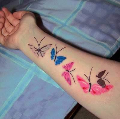 tatuagem borboletas no braco - Tatuagem Feminina no Braço, no Pulso, Ideias em Desenhos