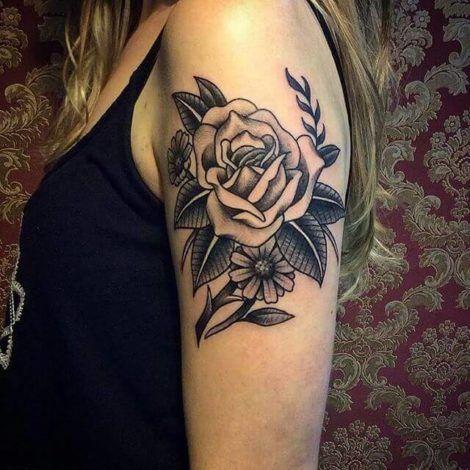 tatuagem feminina no bra%C3%A7o rosas 470x470 - Tatuagem Feminina no Braço, no Pulso, Ideias em Desenhos