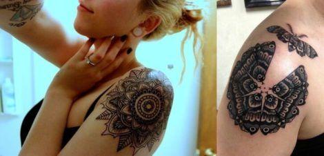 tatuagem mandala feminina no bra%C3%A7o 470x226 - Tatuagem Feminina no Braço, no Pulso, Ideias em Desenhos