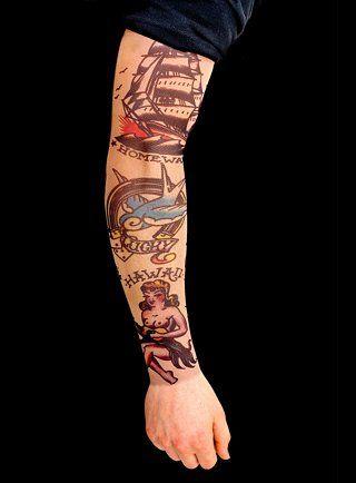 tatuagem old school no braco 1 - Tatuagem Old School Desenhos, Fotos e Dicas